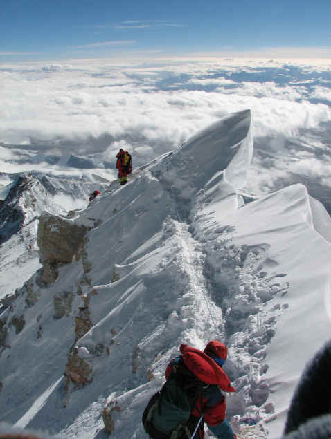Everest North ridge route photo