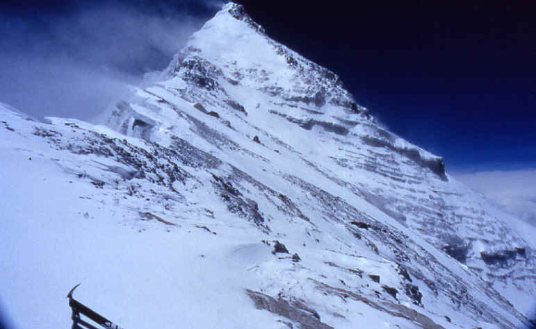 Everest north summit, steps away