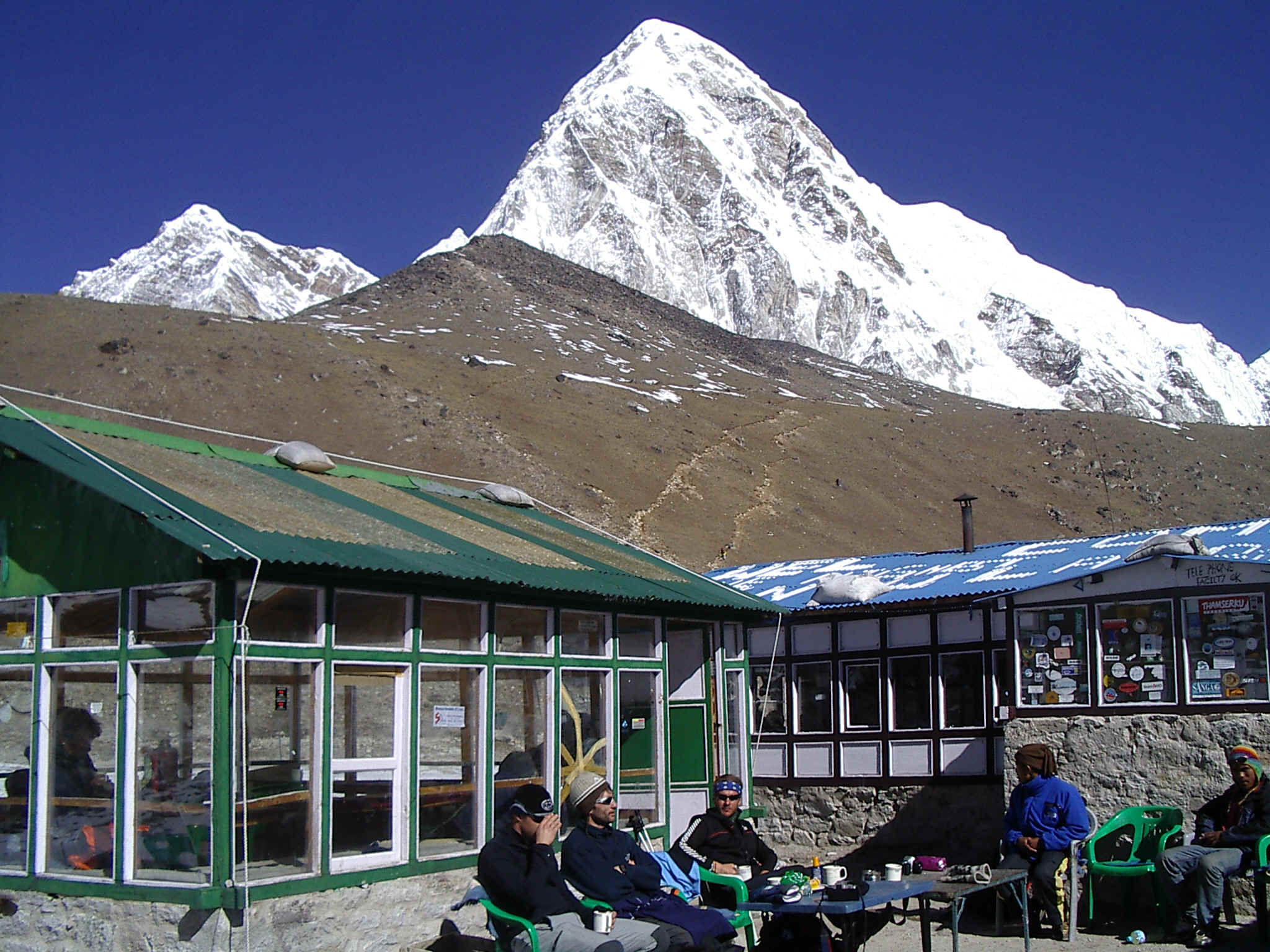 Gorak Shep lodge at the base of Kala Pattar and Mt. Pumori