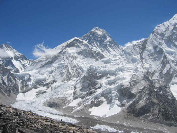 View of Mt. Everest South Ridge Nepal from Kala Pattar