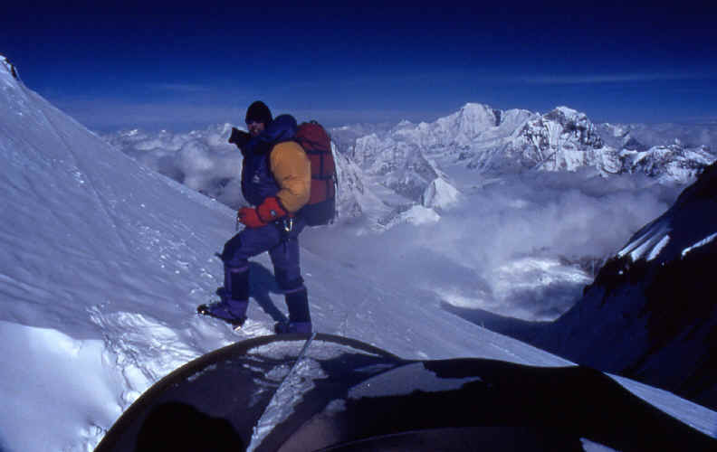 Tim Rippel fixing the route North Ridge Everest in 1992